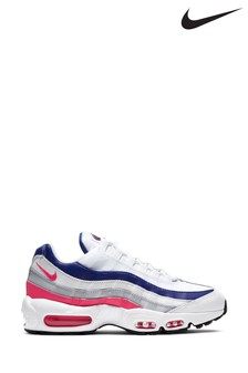 Nike White/Pink Air Max 95 Trainers