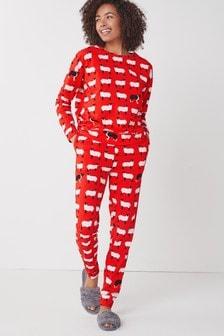 Red Sheep Cotton Pyjamas