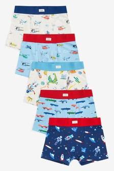 Blue/ Red Vehicles 5 Pack Trunks (2-16yrs)