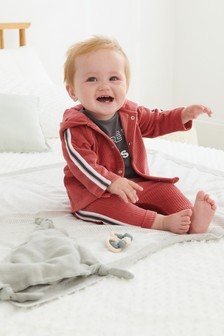 Red 3 Piece Corded Set (0mths-2yrs)