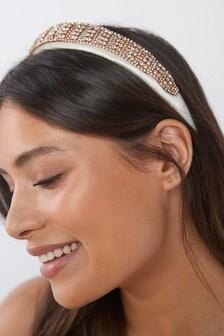 Gold Crystal Headband