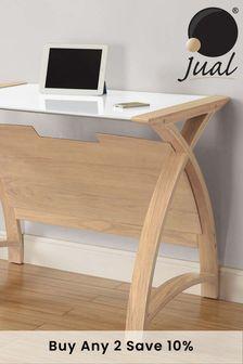 Helsinki 900 Oak Laptop Table by Jual