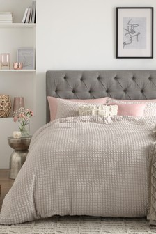 Seersucker Line Duvet Cover And Pillowcase Set