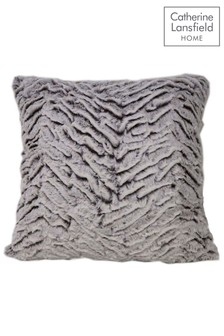 Wolf Faux Fur Cushion by Catherine Lansfield