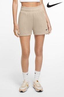 Nike Oatmeal Trend Fleece High Waist Shorts
