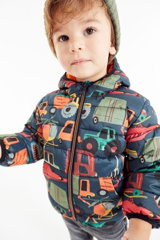 Digger Print Padded Jacket (3mths-7yrs)