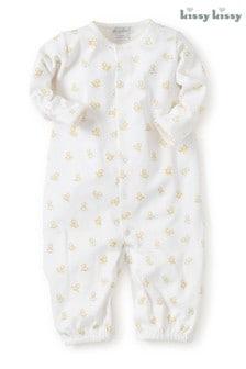 Kissy Kissy White Hatchlings Duck Print Converter Gown