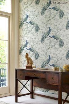 Laura Ashley Midnight Belvedere Wallpaper