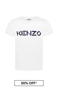 Kenzo Kids Baby Boys White Cotton T-Shirt