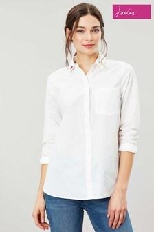Joules Cream Lorena Longline Woven Shirt