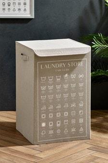 Wash Symbols Laundry Hamper