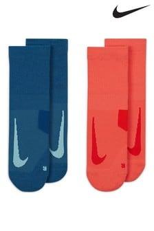Nike Womens Multiplier Running Ankle Socks 2 Pack
