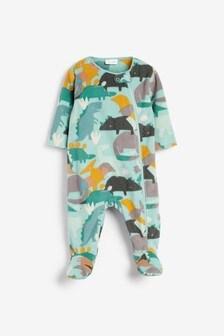 Green Dinosaur Fleece Sleepsuit (0mths-3yrs)