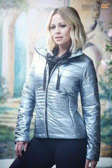 Regatta Kimberley Walsh Edit Grey Lustel Baffle Jacket