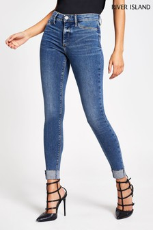 River Island Denim Medium Molly Mid Rise Law Jeans