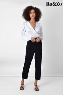Ro&Zo Black Crepe Tailored Trousers