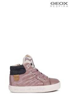 Geox Baby Girl's Kilwi Rose Smoke Sneakers