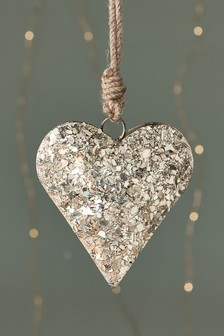 Encrusted Heart Bauble