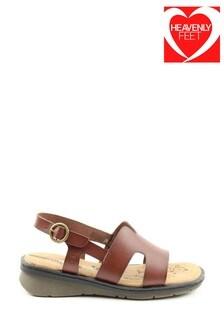 Heavenly Feet Jasper Ladies Tan Sandals