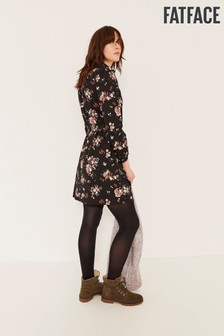 FatFace Black Bernie Spring Bouquet Dress