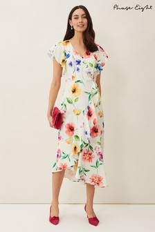 Phase Eight Cream Anthea Floral Frill Dress