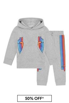 Boys Grey Rainbow Hands Tracksuit