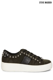Steve Madden Green Belle Lace-Up Trainers