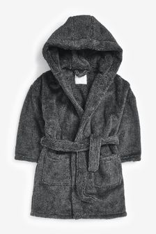 Grey Soft Touch Fleece Dressing Gown (1.5-16yrs)