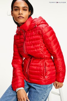 Tommy Hilfiger Red Jade Lightweight Eco Fill Jacket
