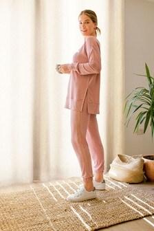 Pink Soft Viscose Joggers