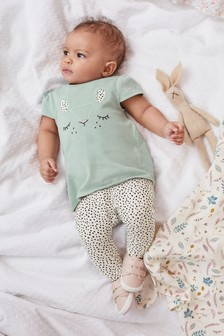Teal Character T-Shirt And Leggings Set (0mths-2yrs)
