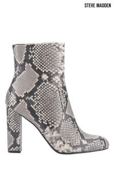 Steve Madden Silver Editor Zip Ankle Boots
