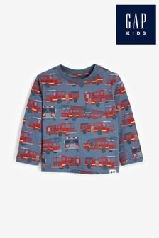 Gap Firetruck Graphic Long Sleeve T-Shirt