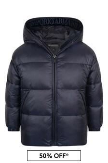 Boys Navy Blue Padded Jacket