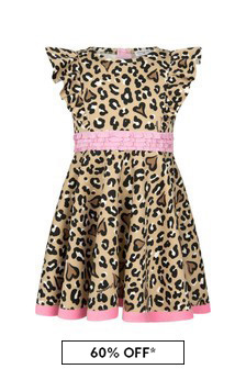 Girls Leopard Print Neoprene Dress