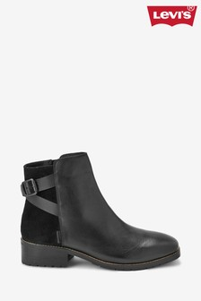 Levi's® Black Buckle Ankle Boots