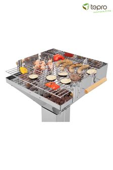 Vista Stainless Steel Pedestal Charcoal BBQ By Tepro