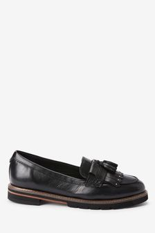 Black Leather Forever Comfort® EVA Loafers
