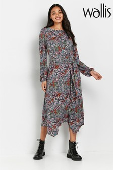 Wallis Tapestry Ditsy Floral Print Dress