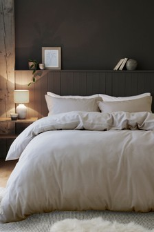 Brushed 100% Cotton Duvet Cover and Pillowcase Set