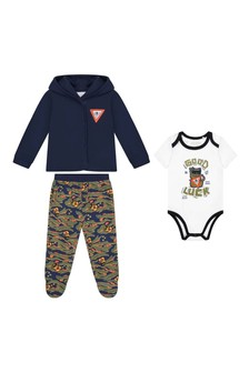 Baby Boys Cotton 3 Piece Trousers Set