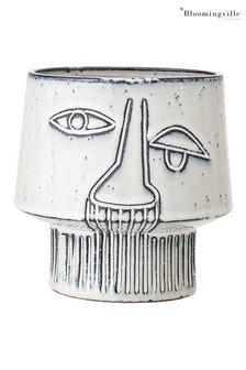 Bloomingville Grey Stoneware Flowerpot