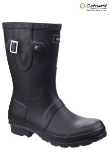 Cotswold Black Windsor Short Wellington Boots