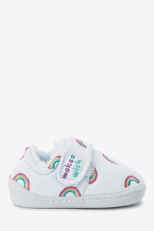 Blue Rainbow Cupsole Slippers (Younger)