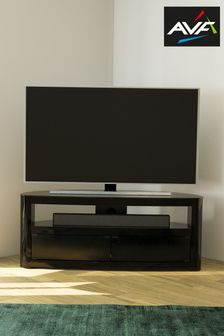 Black AVF Burghley 1250 Curved TV Stand