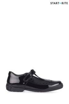 Start-Rite Black Leapfrog Patent Narrow Fit School Shoes