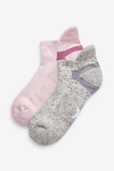 Pink Sports Trainer Socks Two Pack