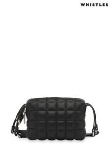 Whistles Black Quilted Cross-Body Bag