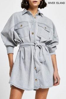 River Island Grey Shirt Dress