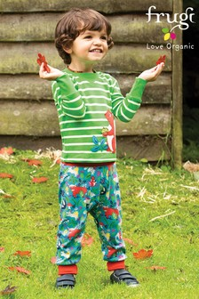 Frugi Blue GOTS Organic Comfy Pull-Up Trousers